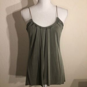 Zara Gathered Green Tank